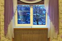 Оформление окна тюлевыми тканями