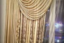 Комбинированные шторы с использованием бахромы и прихвата
