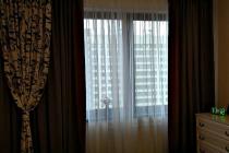 Комбинированные шторы в спальню