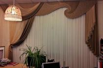Комплект штор с жестким ламбрекеном