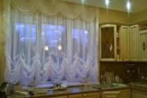 Французские шторы и ламбрекен на кухню