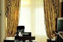 Комплект штор с ламбрекеном в кабинет